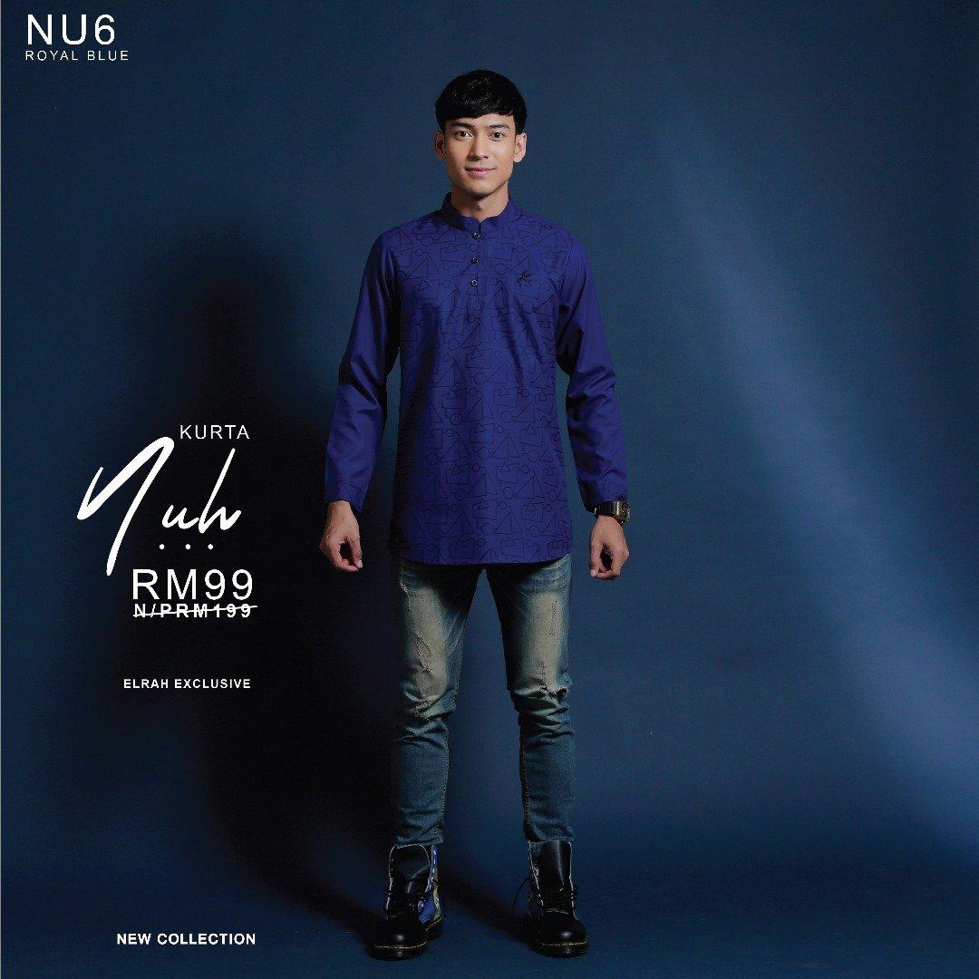 Kurta Nuh Royal Blue