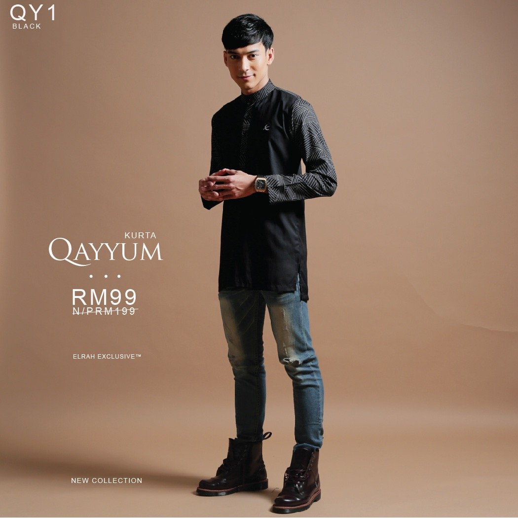 Kurta Qayyum Black