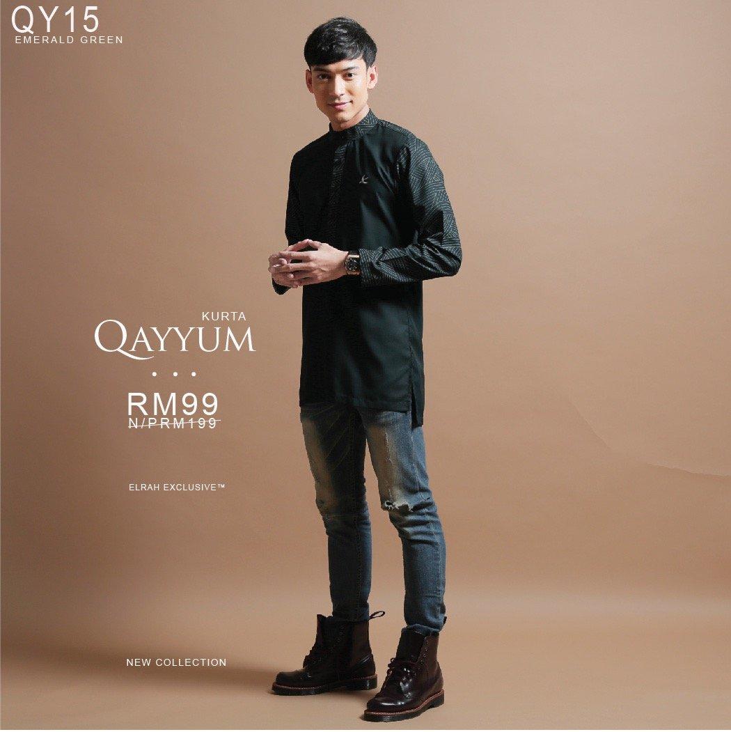 Kurta Qayyum Emerald Green