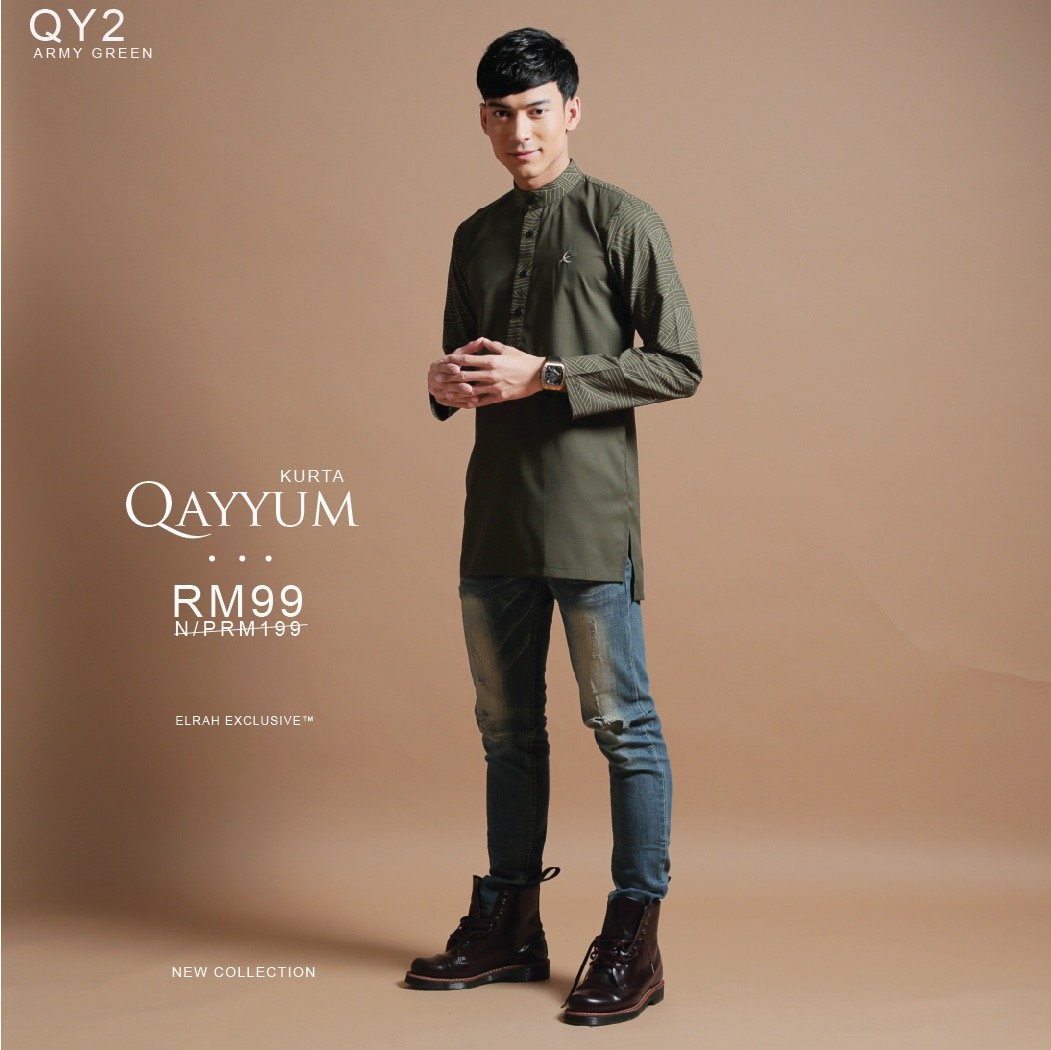 Kurta Qayyum Army Green