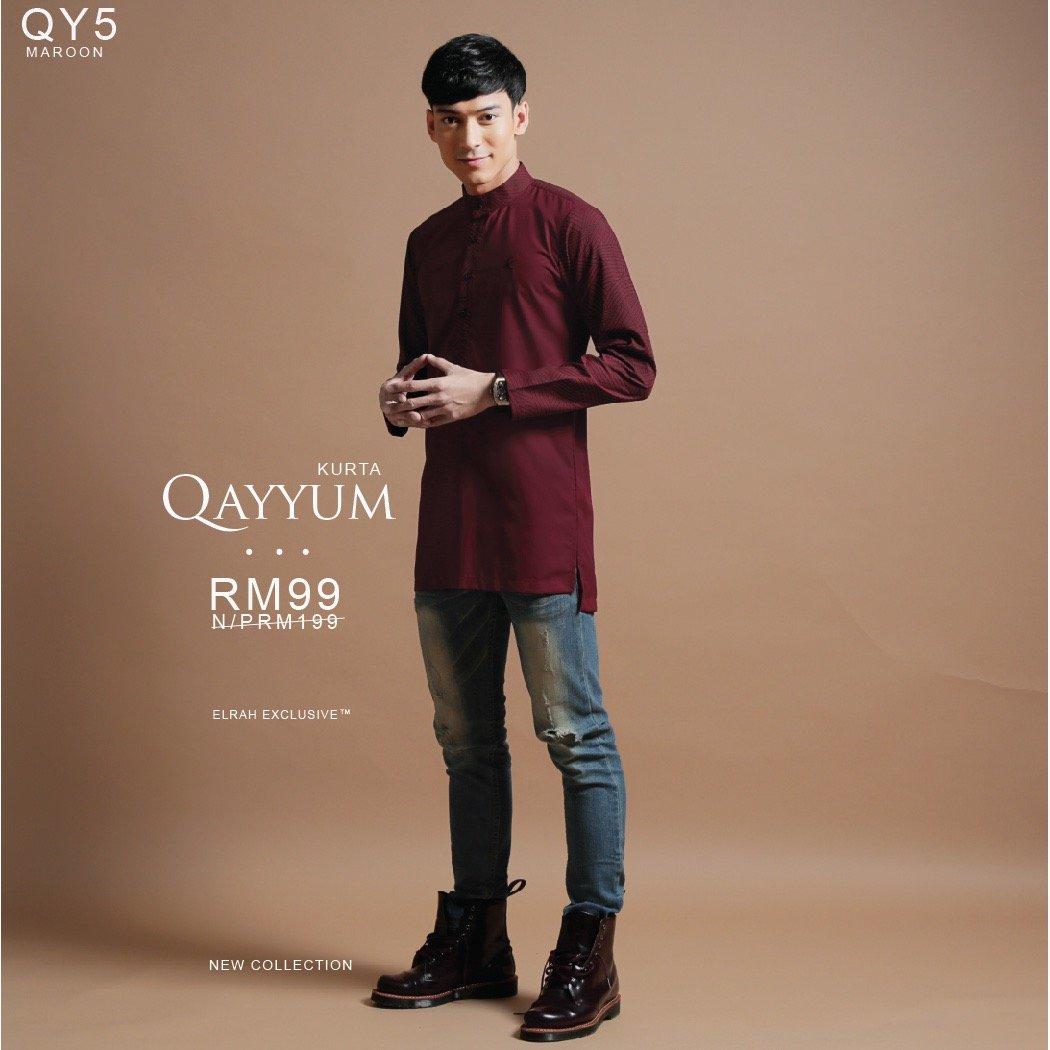 Kurta Qayyum Maroon