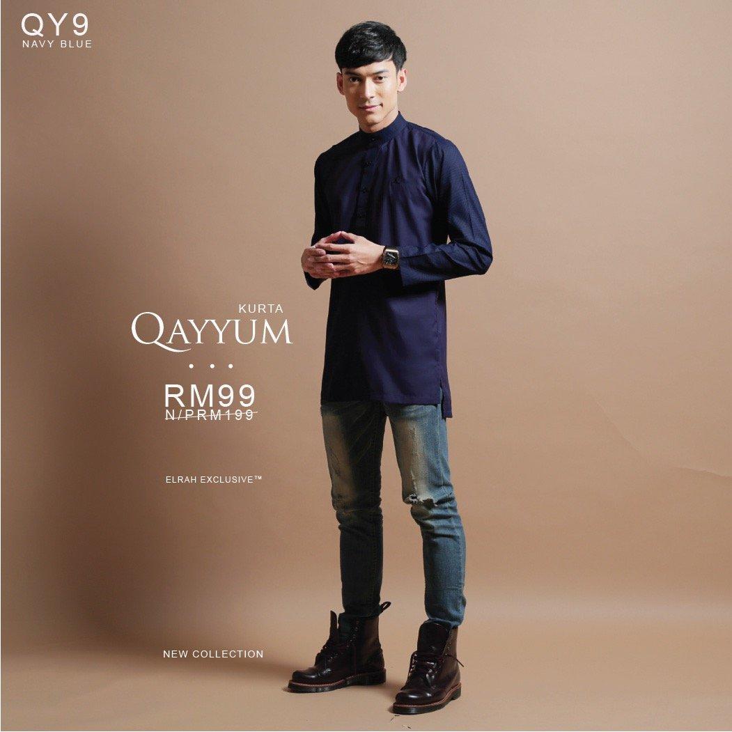 Kurta Qayyum Navy Blue