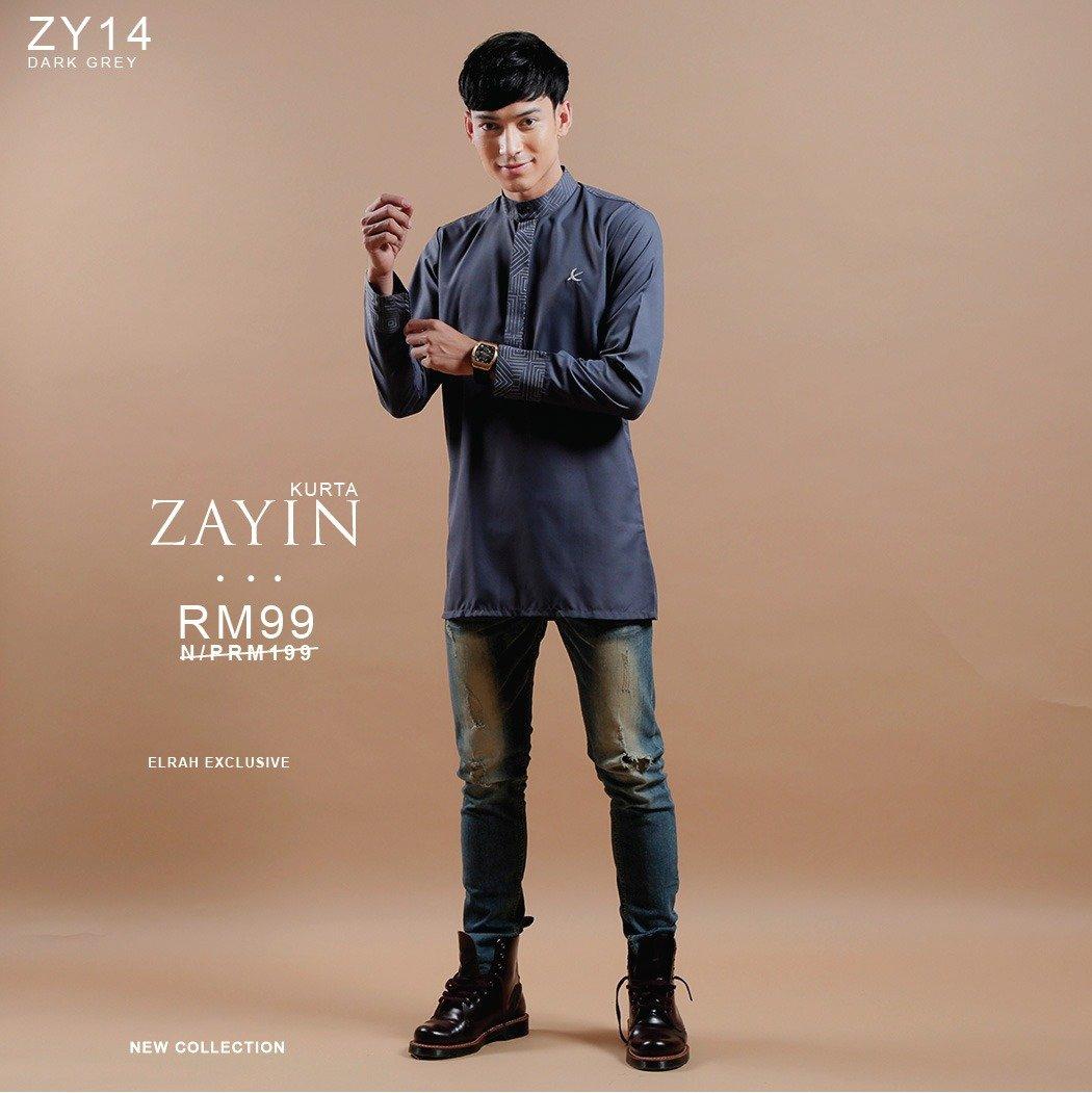 Kurta Zayin Dark Grey