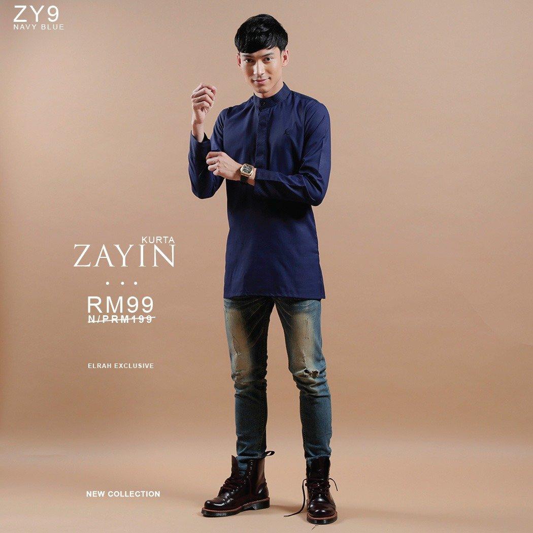 Kurta Zayin Navy Blue
