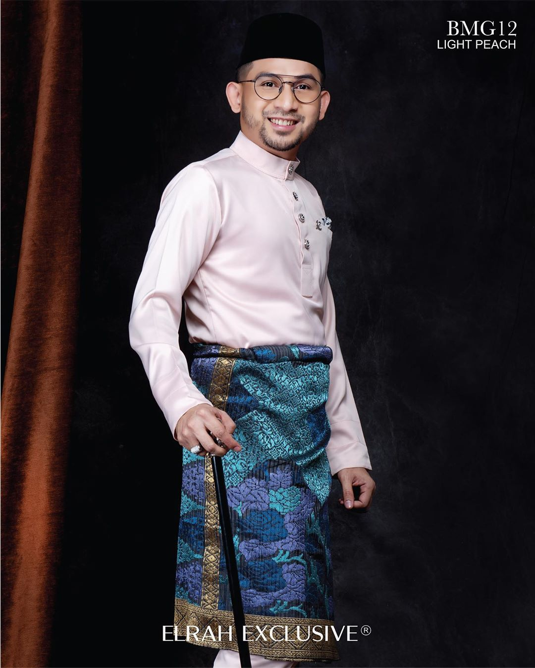 Baju Melayu Gentleman Light Peach