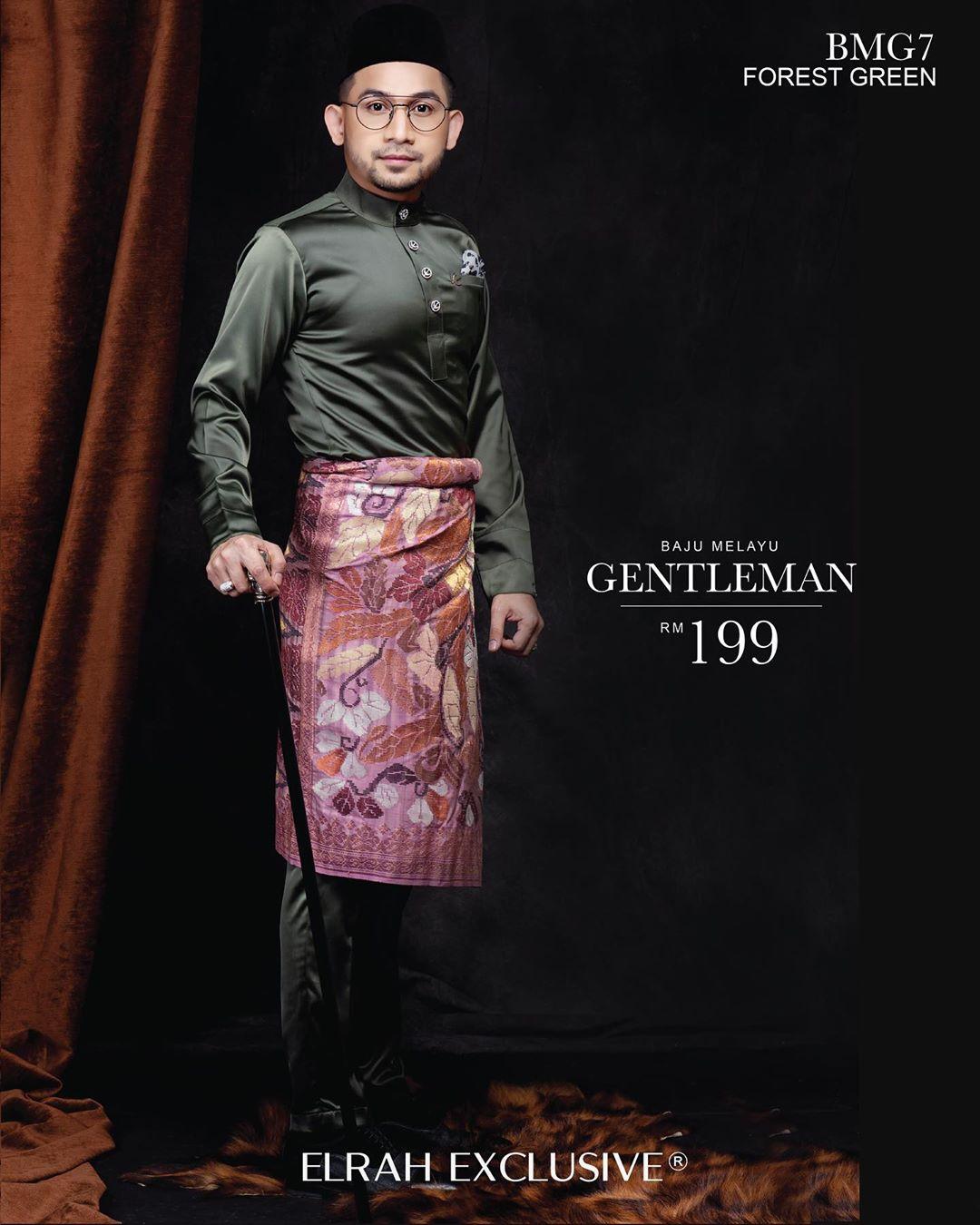 Baju Melayu Gentleman Forest Green
