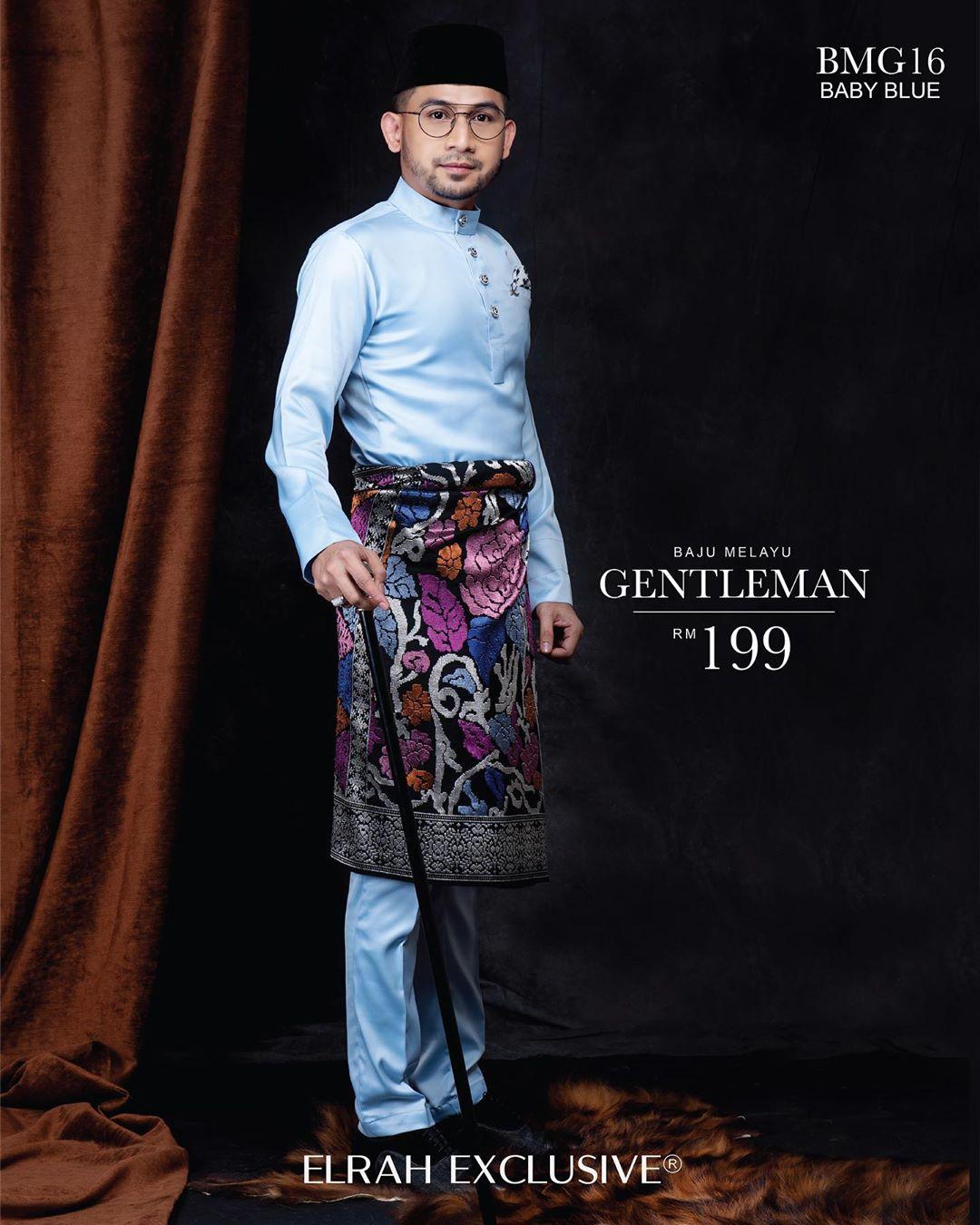 Baju Melayu Gentleman Baby Blue
