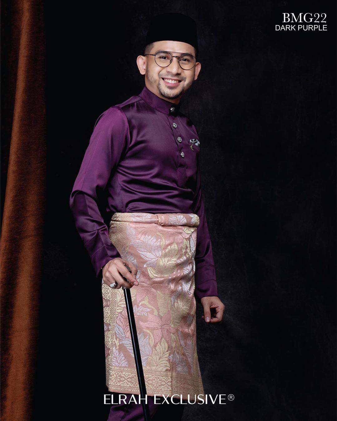 Baju Melayu Gentleman Dark Purple