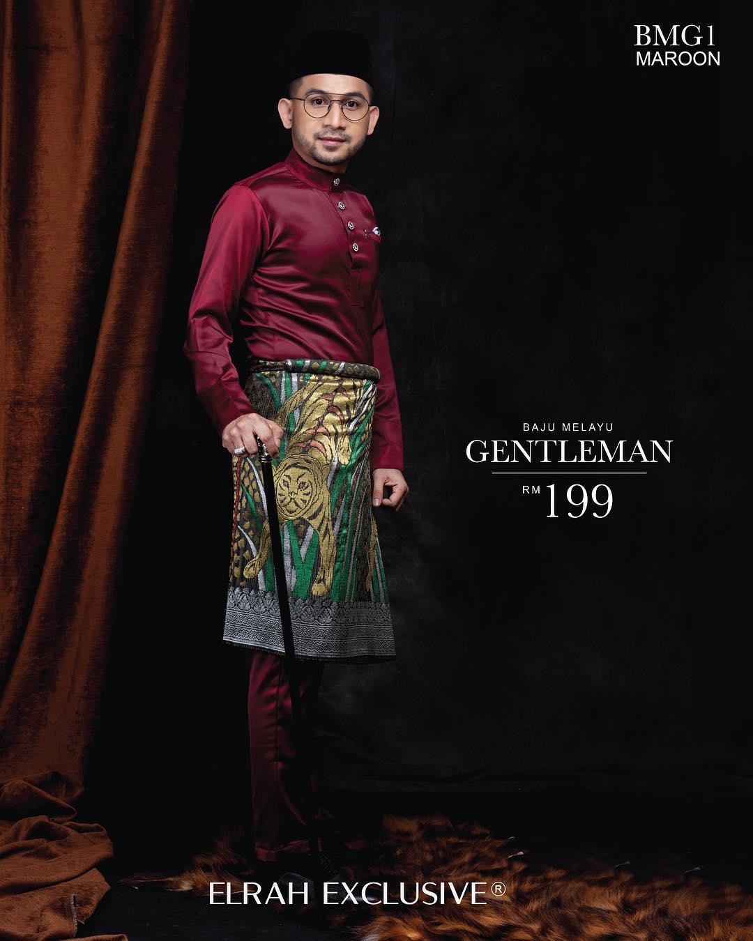 Baju Melayu Gentleman Maroon