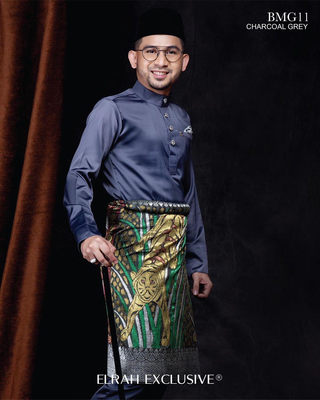 Baju Melayu Gentleman Charcoal Grey
