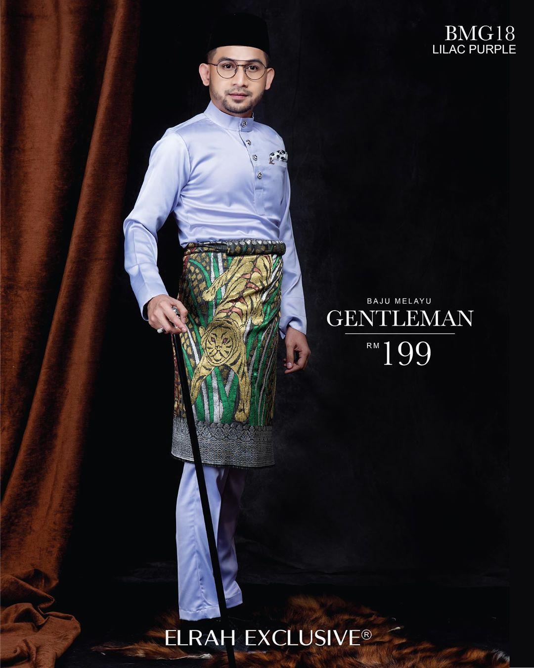 Baju Melayu Gentleman Lilac Purple