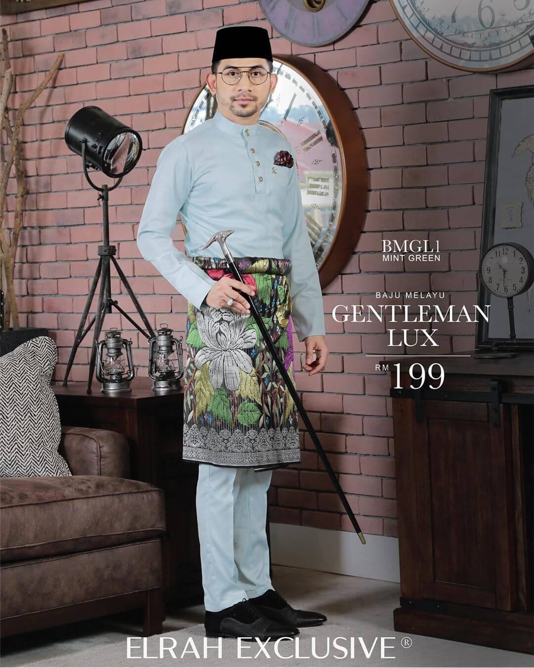 Baju Melayu Gentleman Lux Mint Green