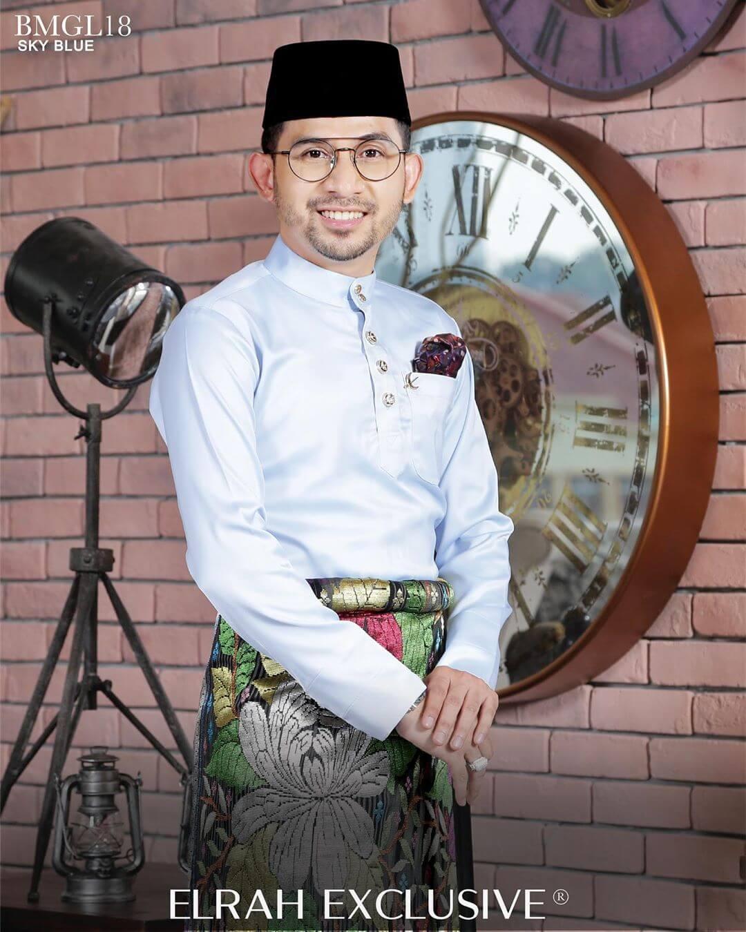Baju Melayu Gentleman Lux Sky Blue