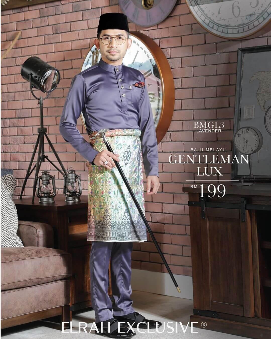 Baju Melayu Gentleman Lux Lavender