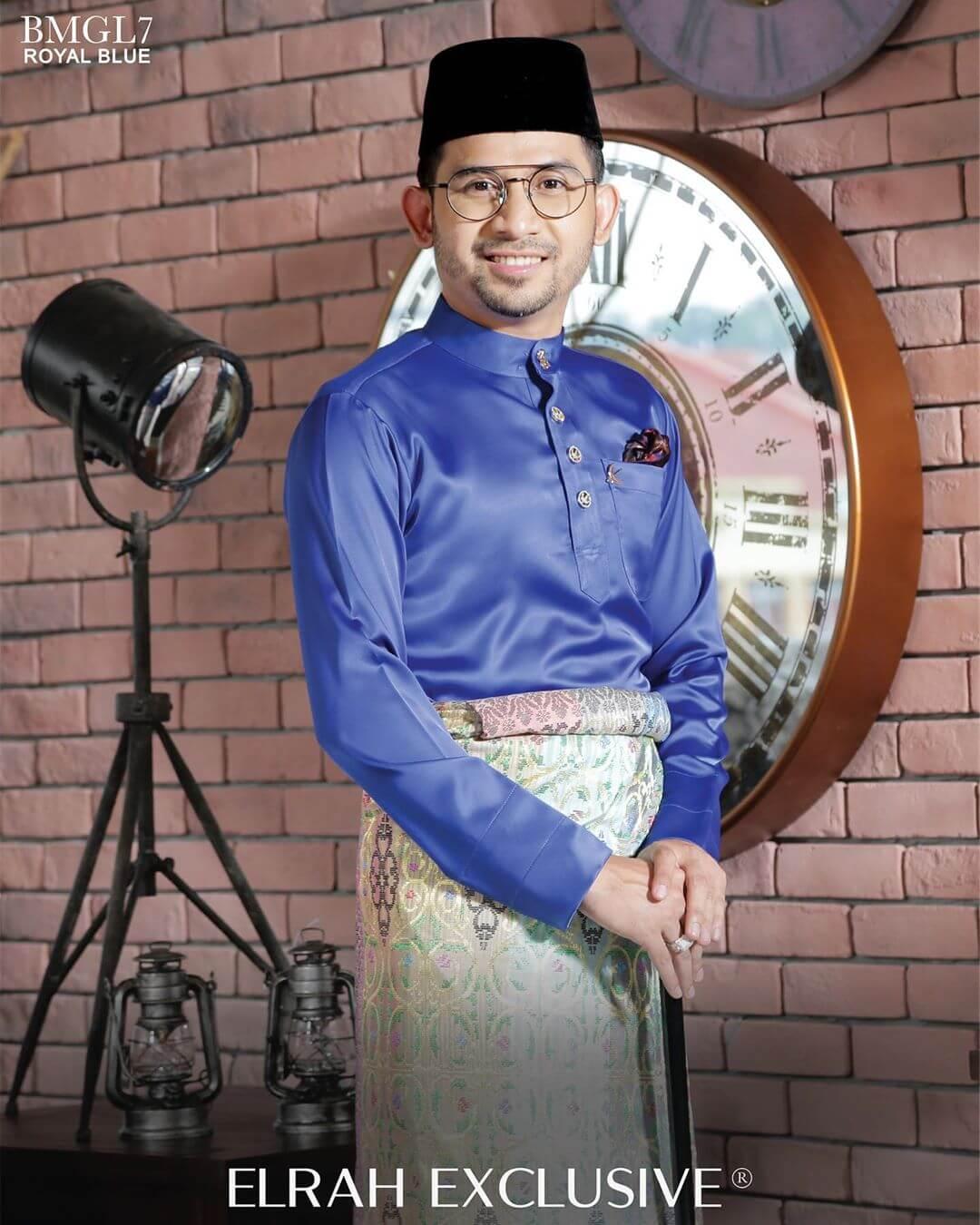 Baju Melayu Gentleman Lux Royal Blue