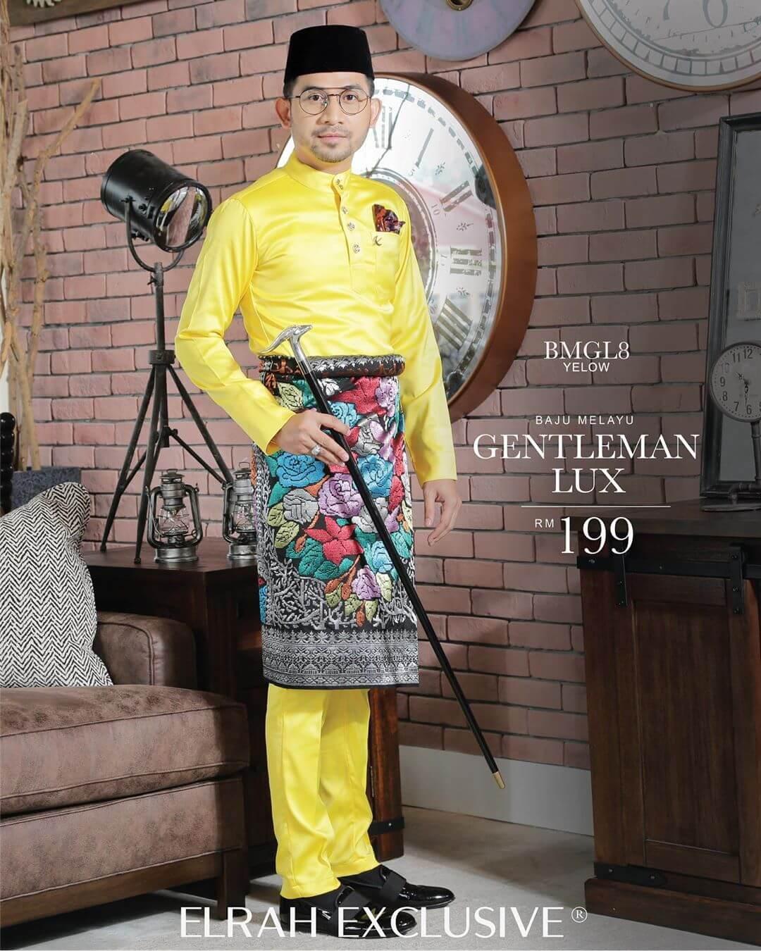 Baju Melayu Gentleman Lux Yellow