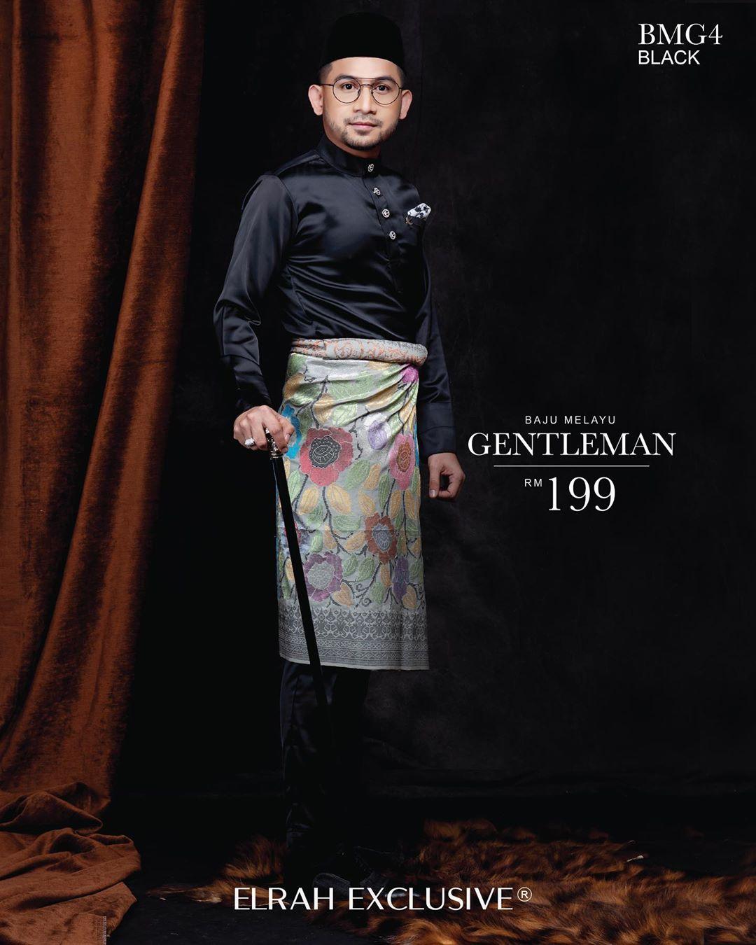 Baju Melayu Gentleman Black