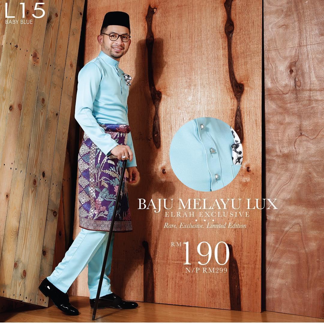 Baju Melayu Lux 1.0 Baby Blue