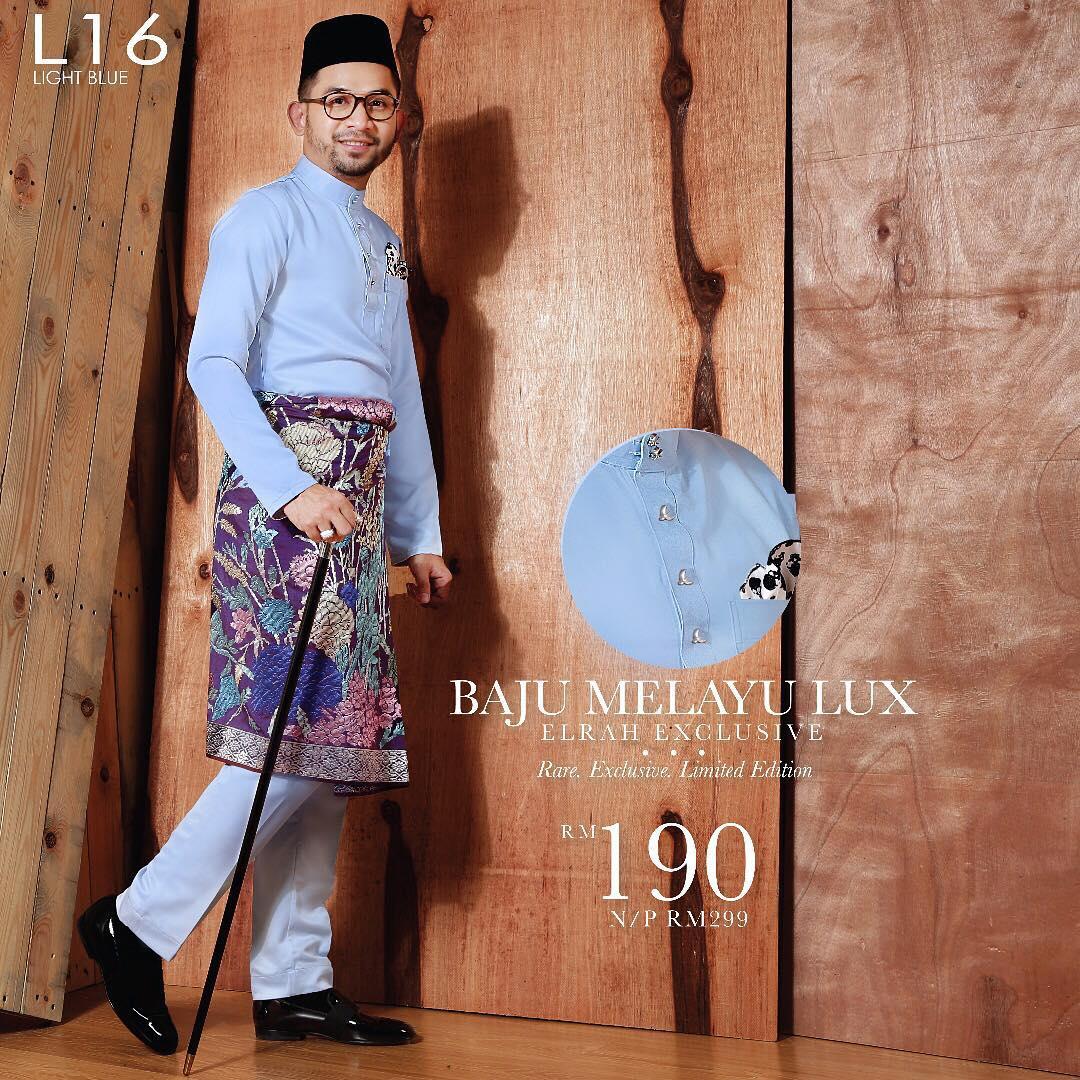 Baju Melayu Lux 1.0 Light Blue