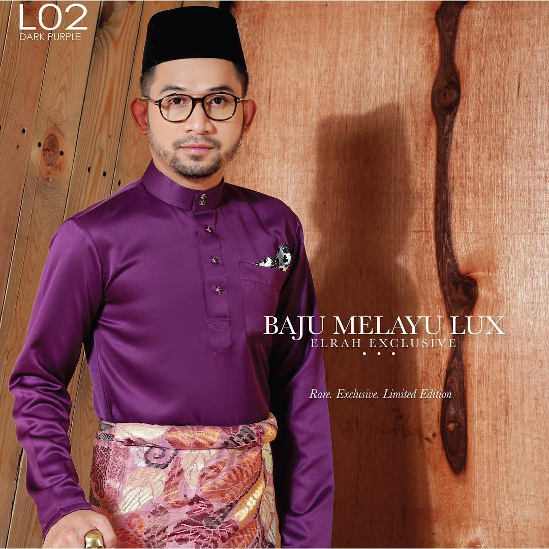 Baju Melayu Lux 1.0 Dark Purple