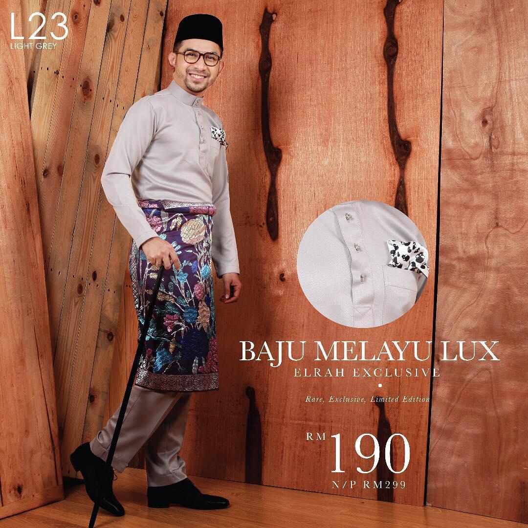 Baju Melayu Lux 1.0 Light Grey
