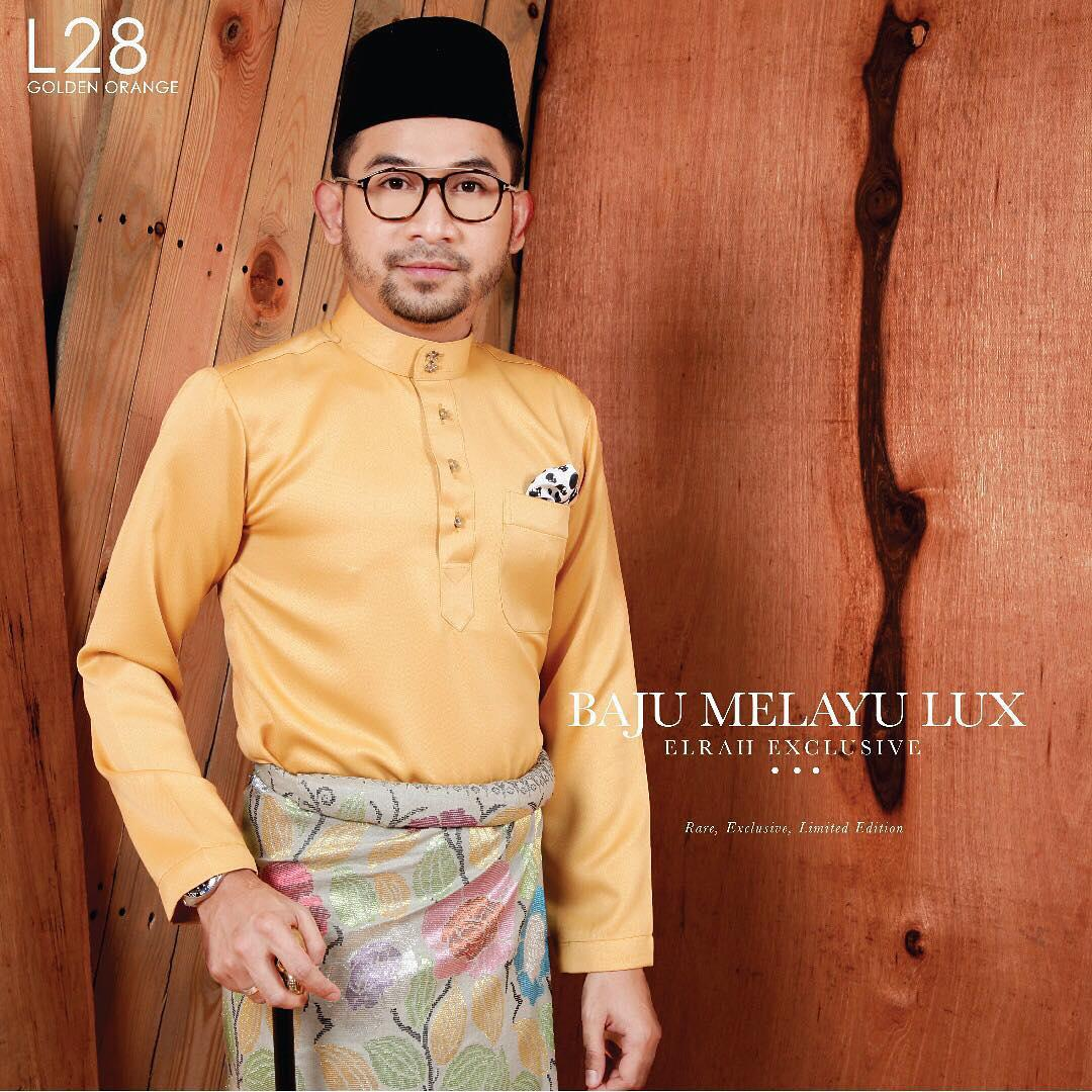 Baju Melayu Lux 1.0 Golden Orange
