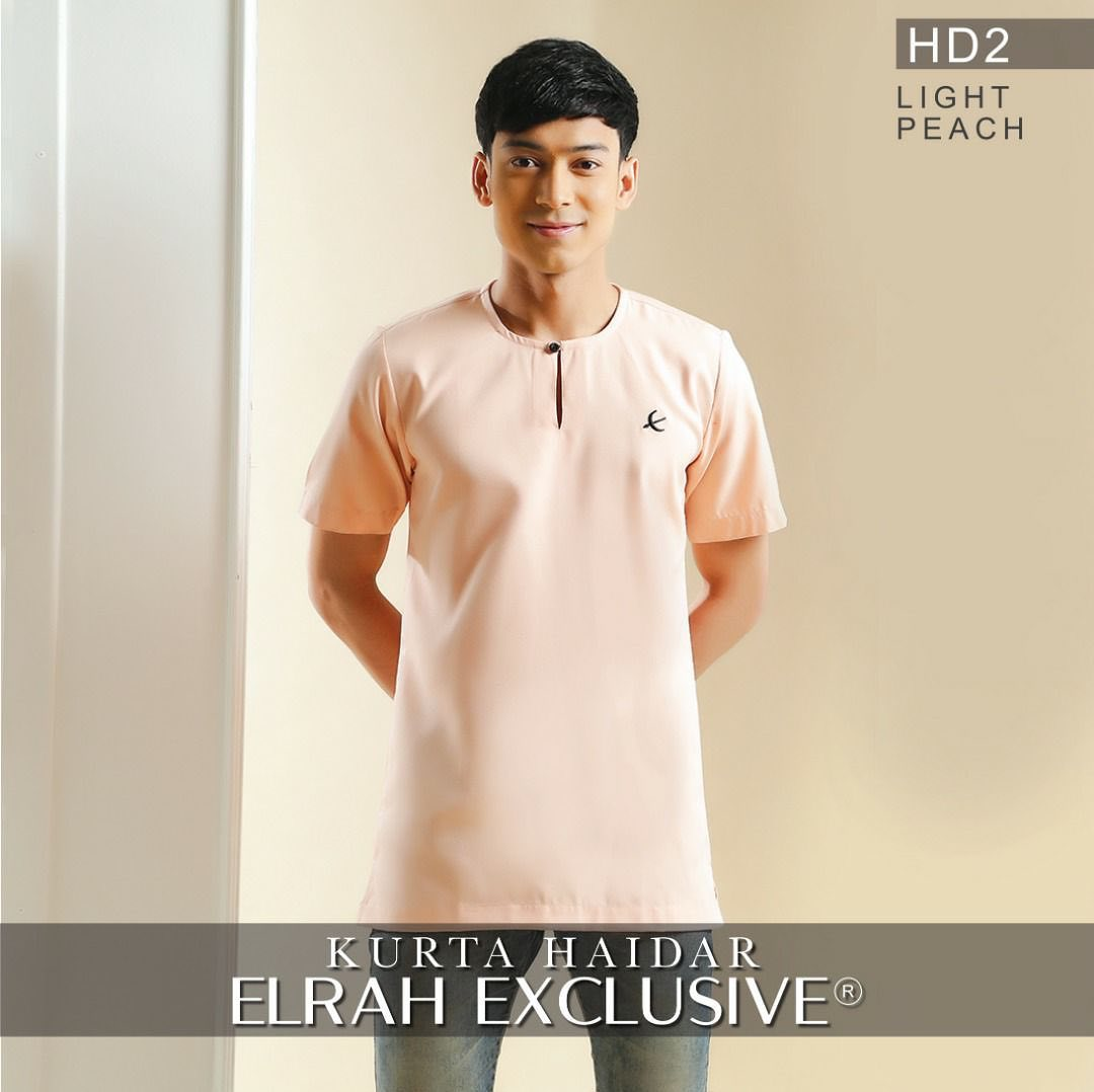 Kurta Haidar Light Peach