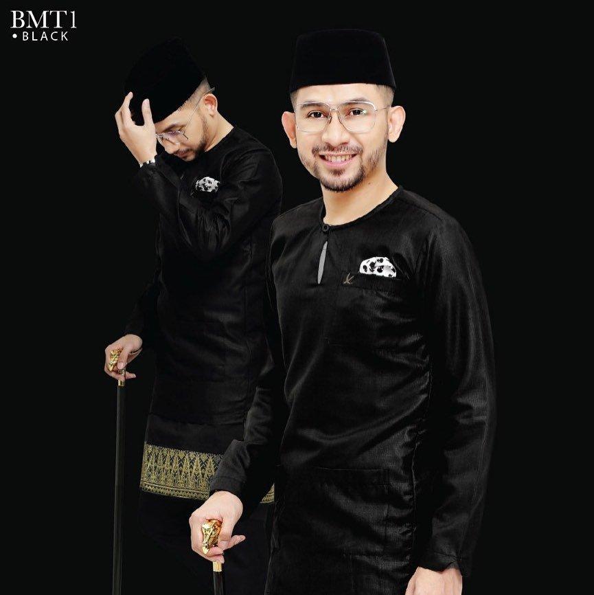 Baju Melayu TMJ Black