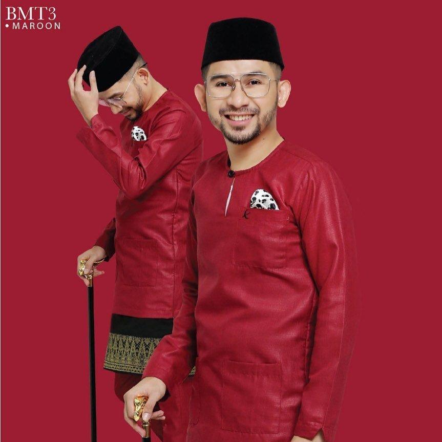 Baju Melayu TMJ Maroon