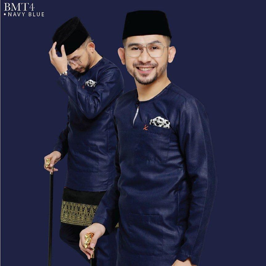 Baju Melayu TMJ Navy Blue