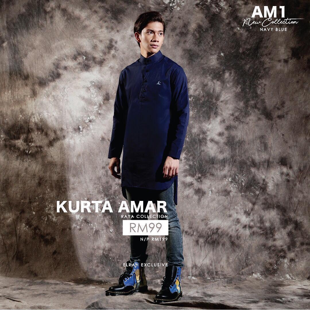 Kurta Amar Navy Blue
