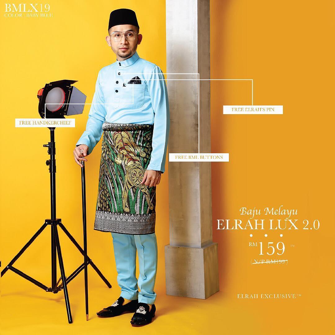 Baju Melayu Luxe 2.0 Baby Blue