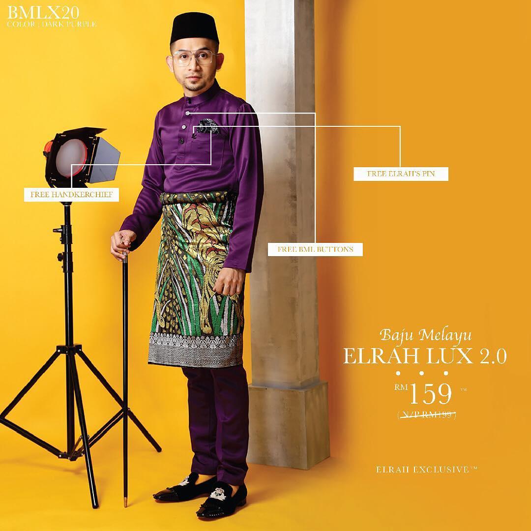 Baju Melayu Luxe 2.0 Dark Purple