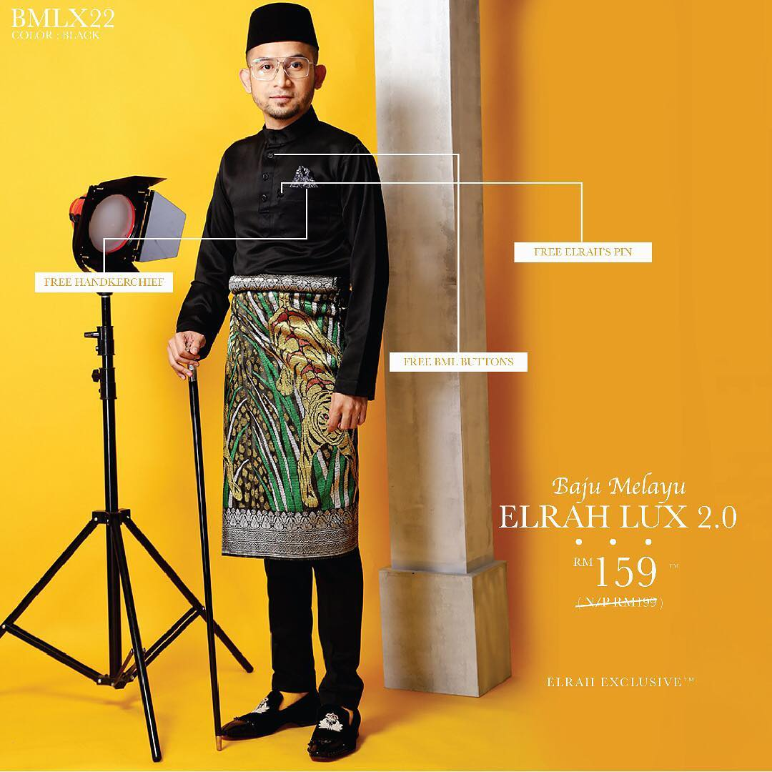 Baju Melayu Luxe 2.0 Black