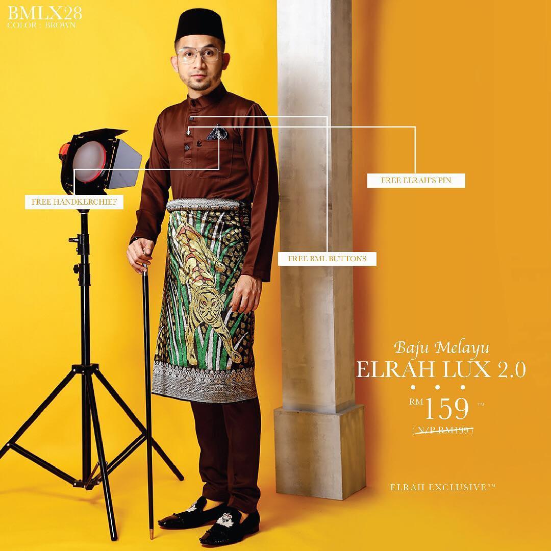 Baju Melayu Luxe 2.0 Brown