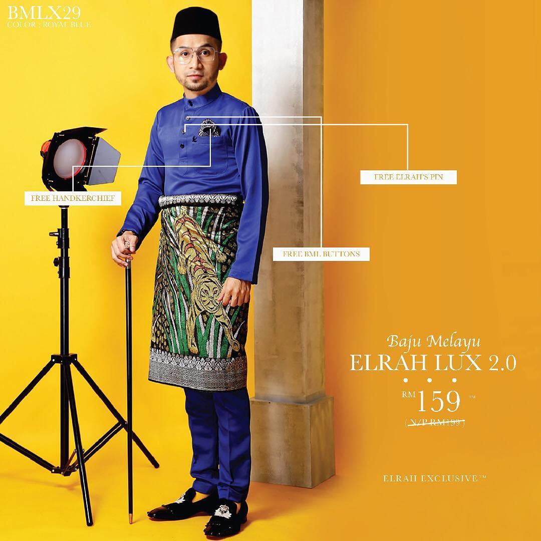 Baju Melau Luxe 2.0 Royal Blue
