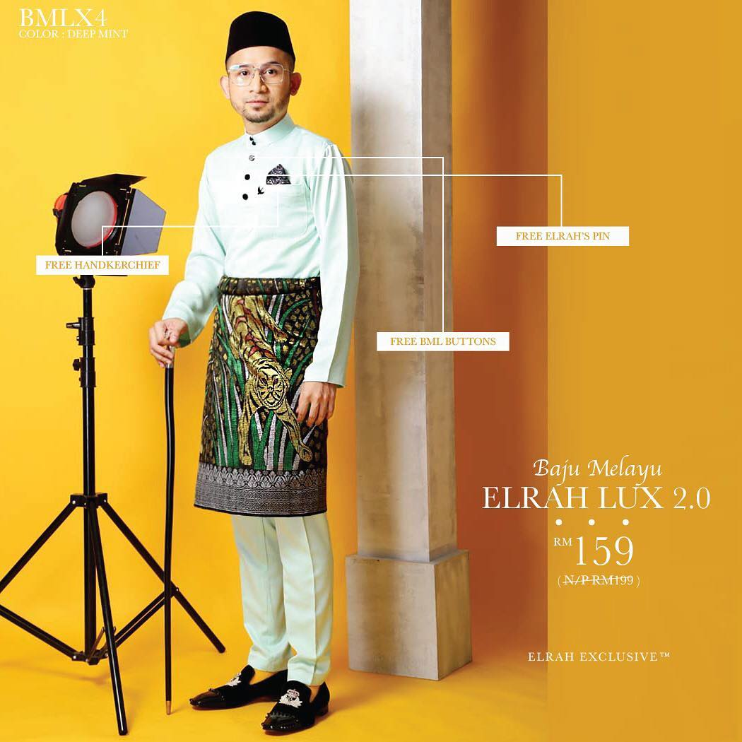 Baju Melayu Luxe 2.0 Deep Mint