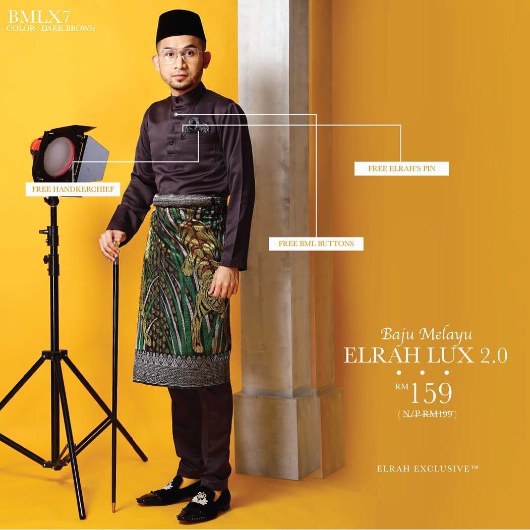 Baju Melayu Luxe 2.0 Dark Brown