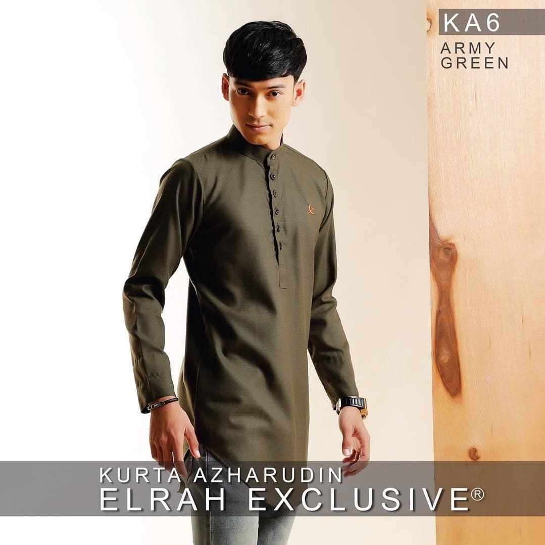 Kurta Azharudin Army Green