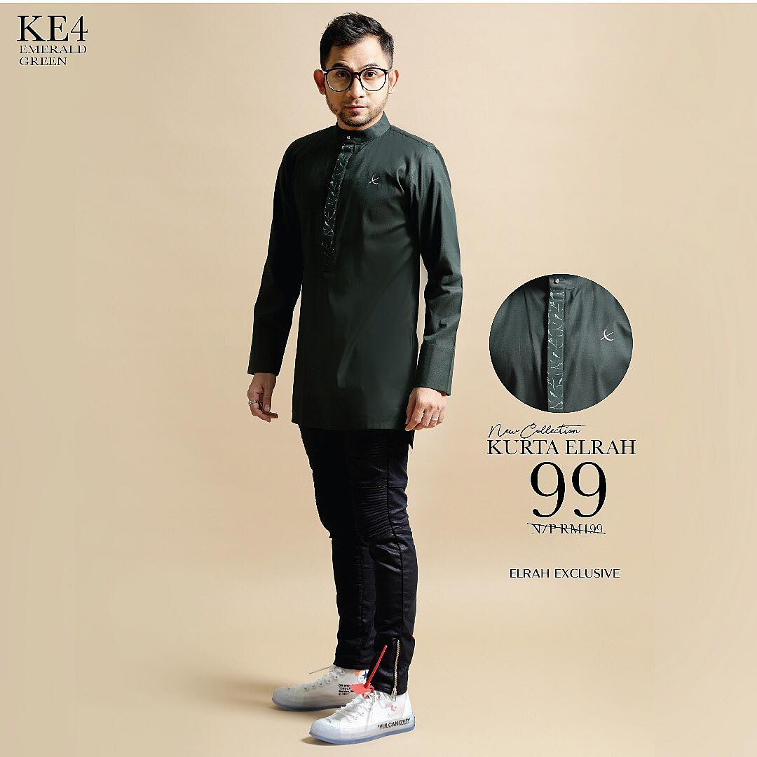 Kurta Elrah Emerald Green