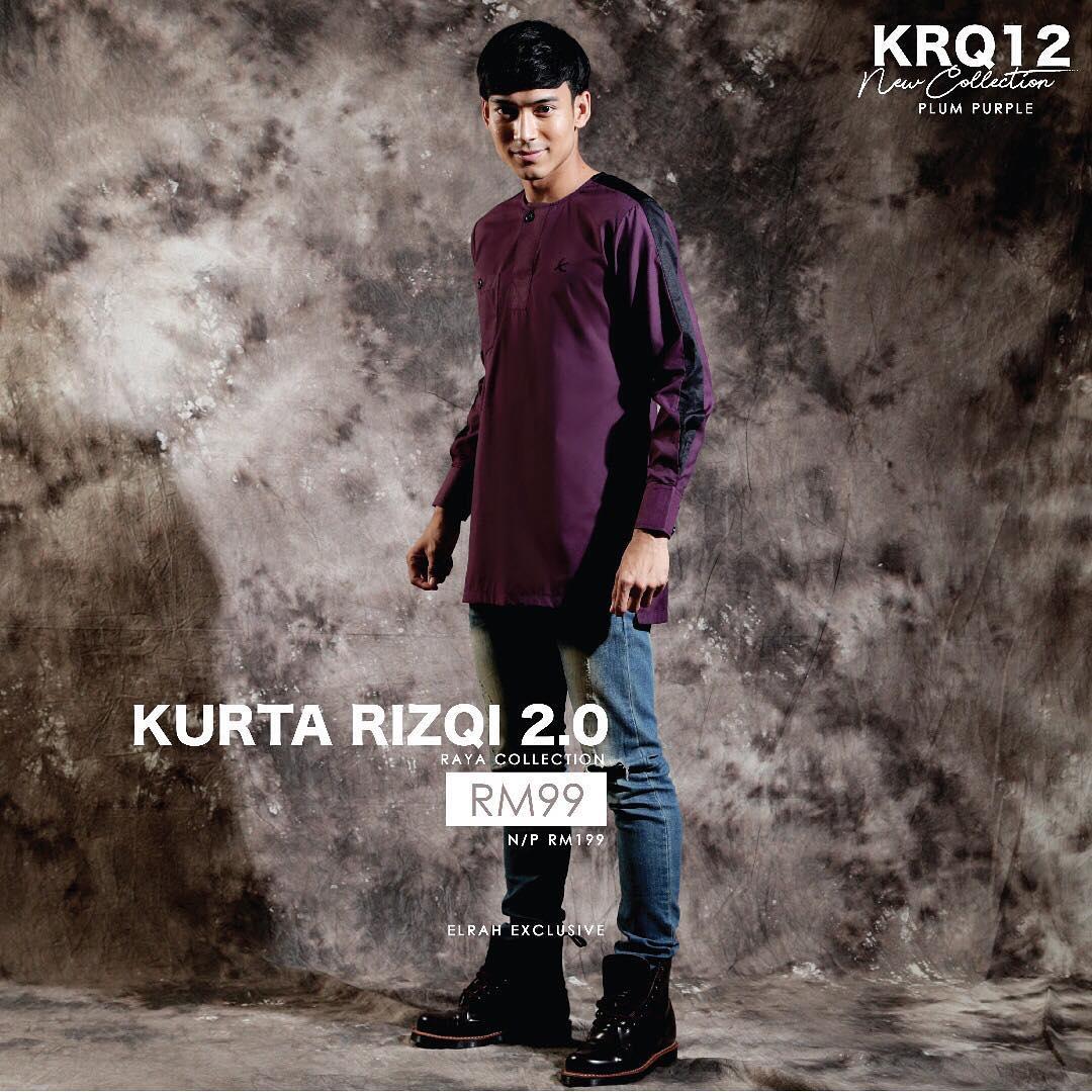 Kurta Rizqi 2.0 Plum Purple