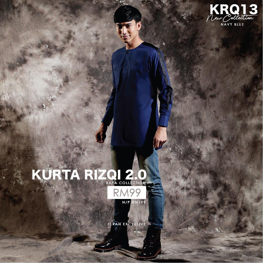Kurta Rizqi 2.0 Navy Blue