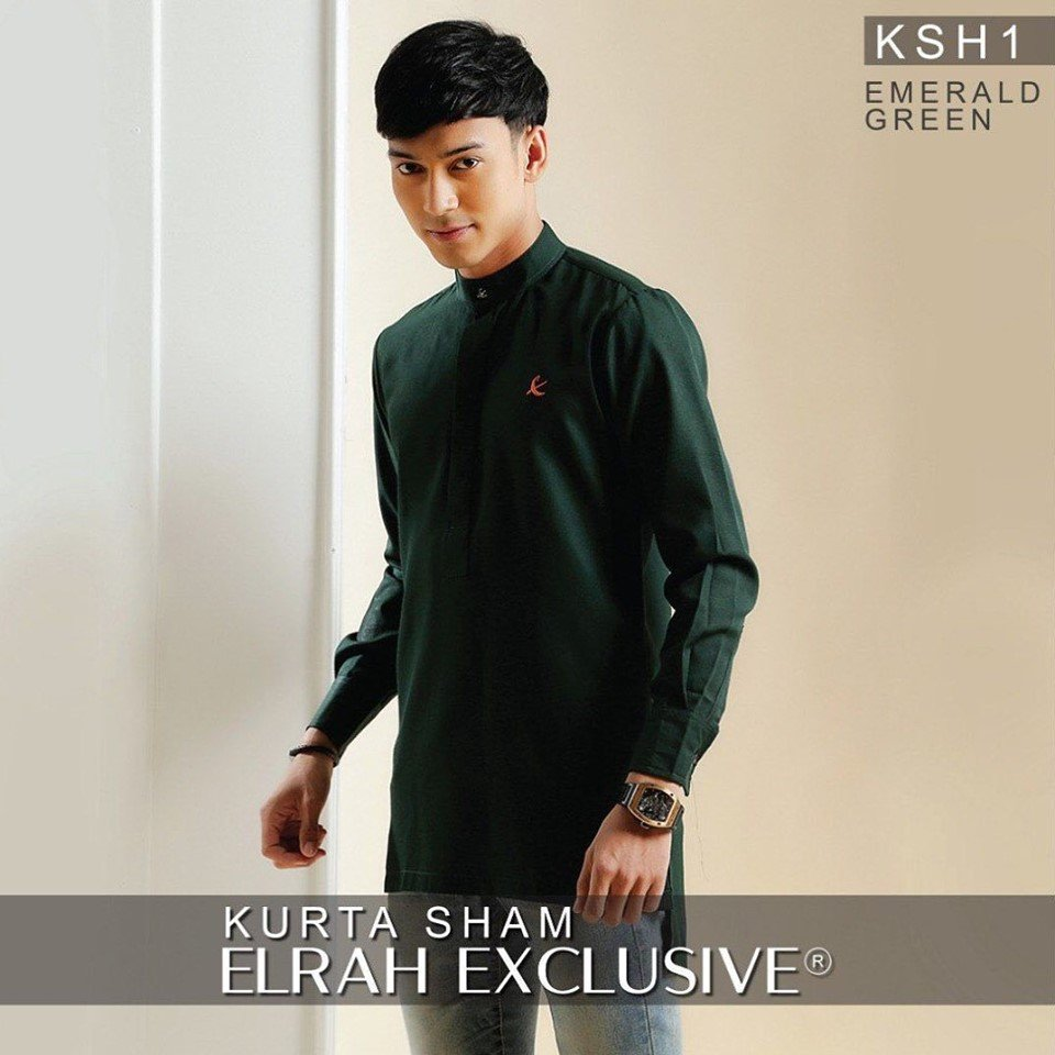 Kurta Sham Emerald Green