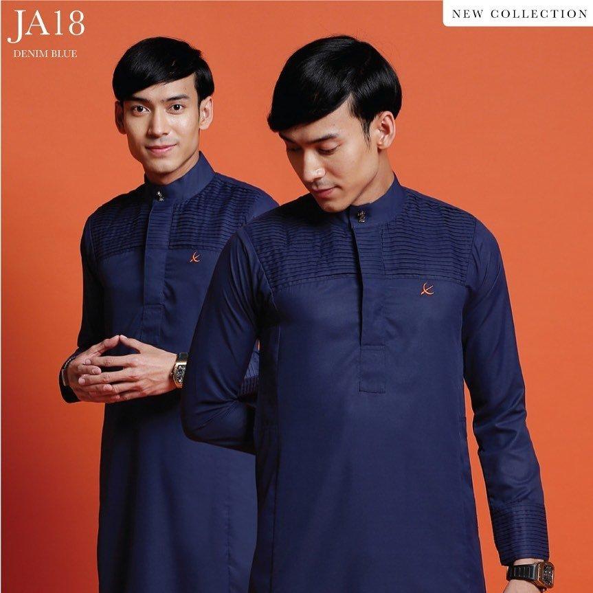 Jubah Abdullah Denim Blue