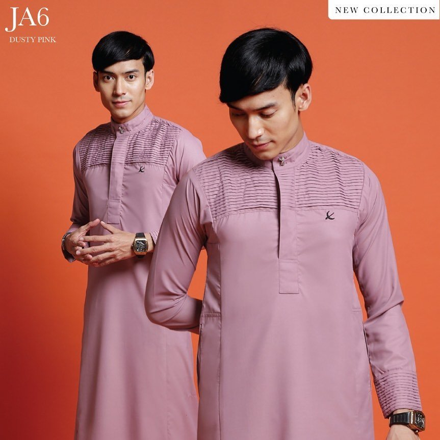 Jubah Abdullah Dusty Pink