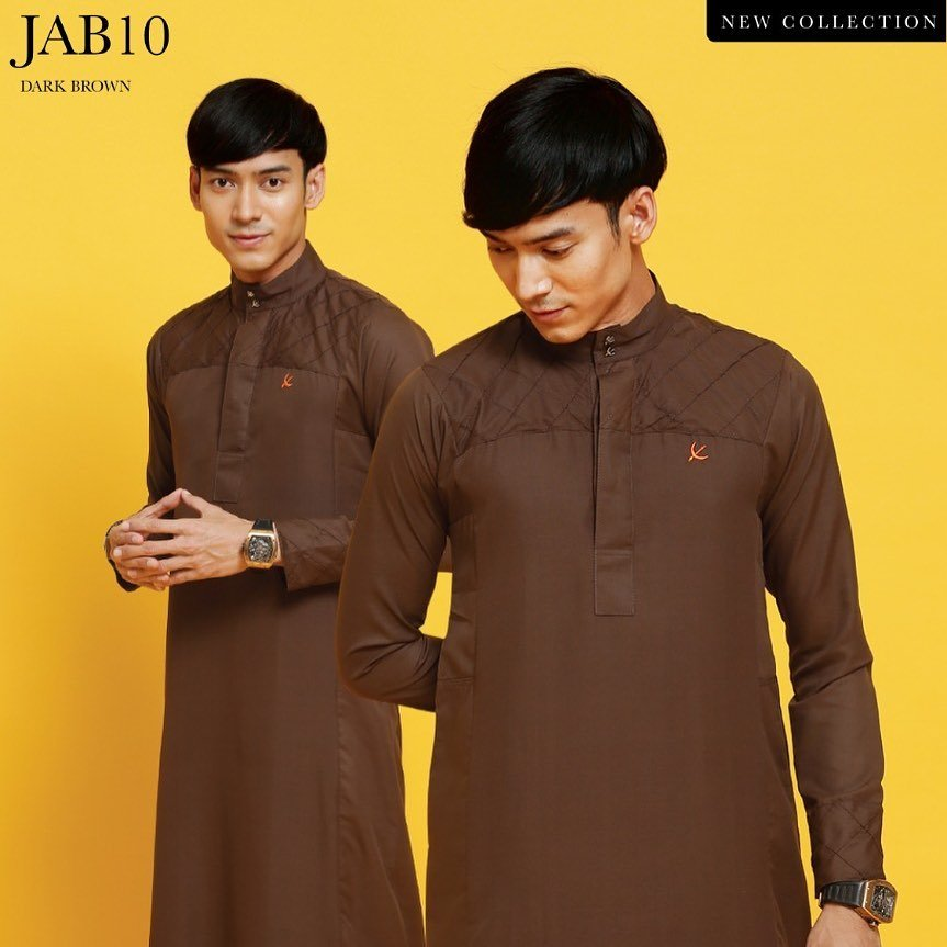 Jubah Abu Bakar Dark Brown