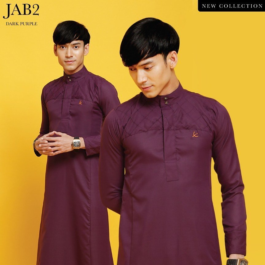 Jubah Abu Bakar Dark Purple