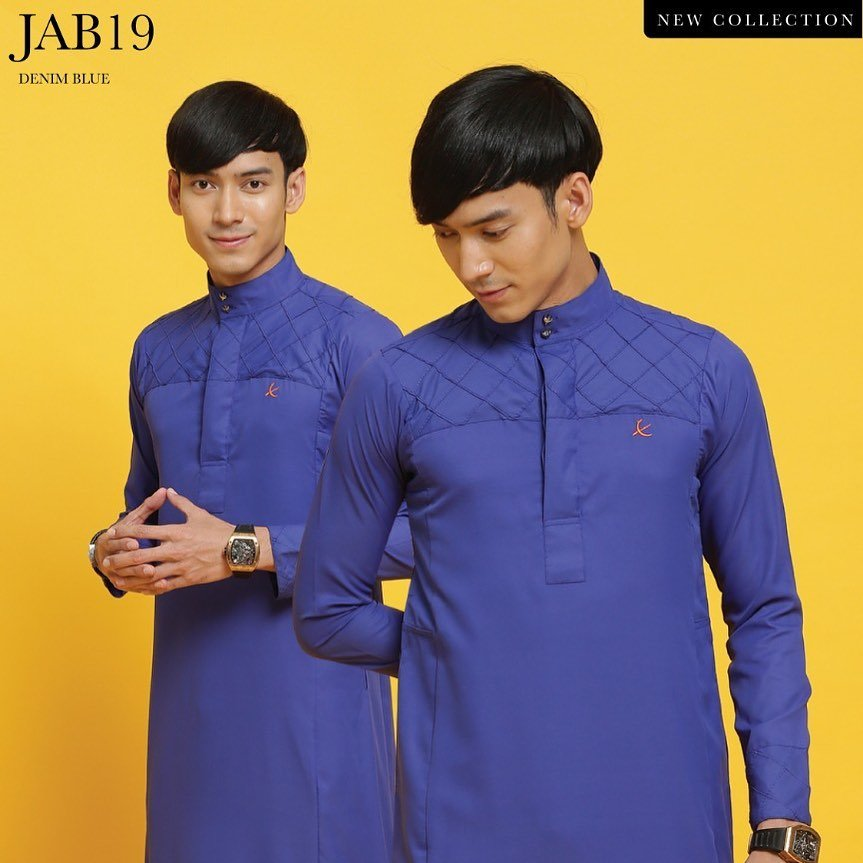 Jubah Abu Bakar Denim Blue