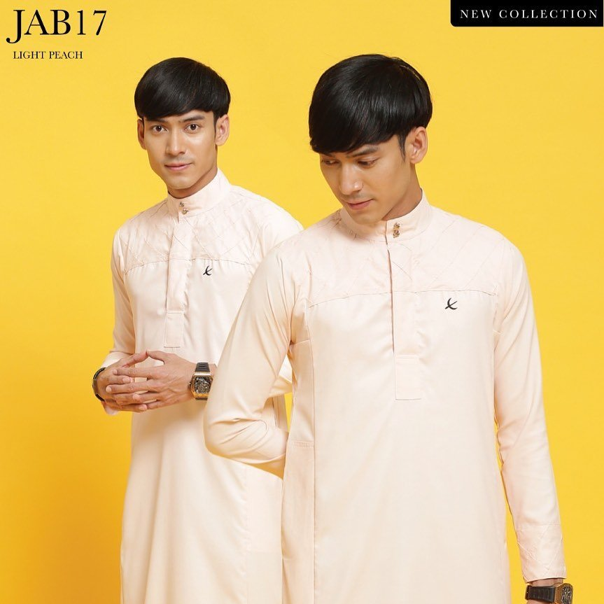 Jubah Abu Bakar Light Peach
