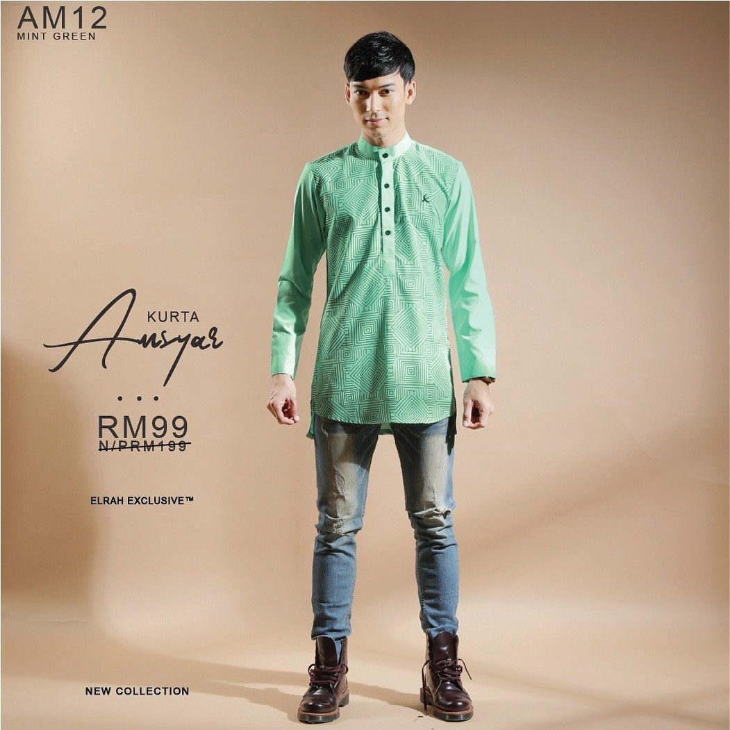 Kurta Amsyar Mint Green